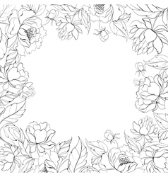 Frame of peony vector