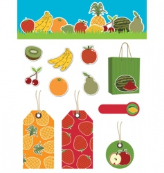 fruit items vector image vector image