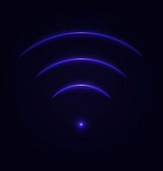 glow neon wifi sign vector image