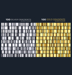 goldsilver gradientpatterntemplateset vector image