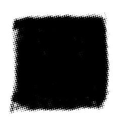 Grunge halftone banner vector