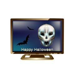 Halloween in computer vector