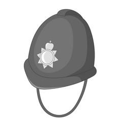 Headdress of english police icon monochrome vector