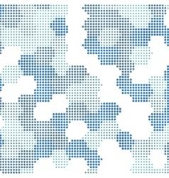 hexagon Halftone background vector image