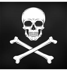 Human evil skull jolly roger vector