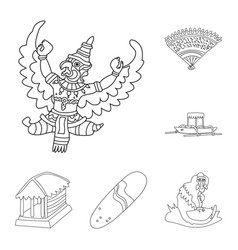 Isolated object of balinese and caribbean icon vector