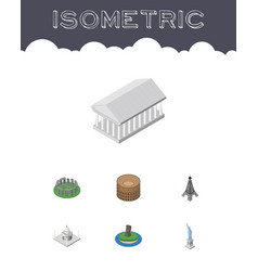 isometric attraction set of england paris vector image