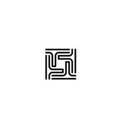 letter t square logo design concept vector image