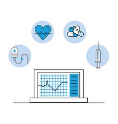 Medical elements electrocardiogram vector