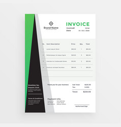Modern professional business invoice template vector