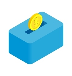 Money bank isometric 3d icon isolated vector