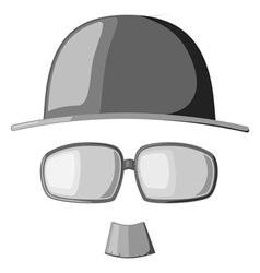 mustache glasses and hats vector image