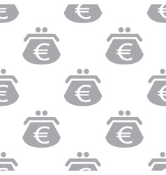 New Euro purse seamless pattern vector image