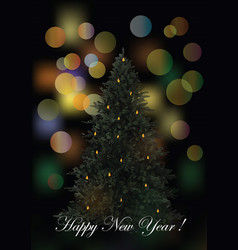 new year greeting card flyer template vector image