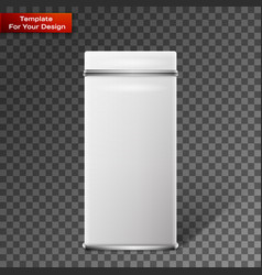 object white square tin packaging vector image