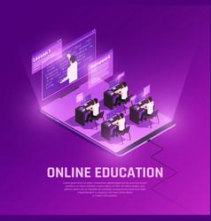 online school form background vector image