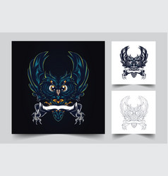 owl artwork vector image