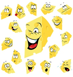 Piece of cheese cartoon vector