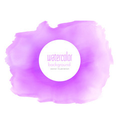 purple watercolor stain texture background vector image