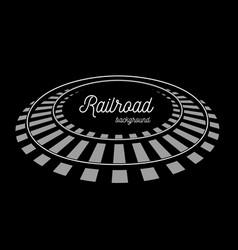 railroad tracks llustration on black vector image