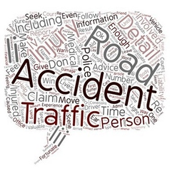 Road Traffic Accidents text background wordcloud vector