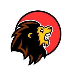 Roaring Lion Circle Badge vector