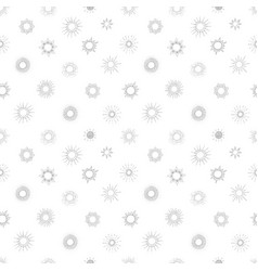seamless background with doodle sun vector image