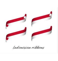 Set four modern color indonesian ribbons vector