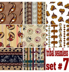 Set of seamless textures of traditional vector image