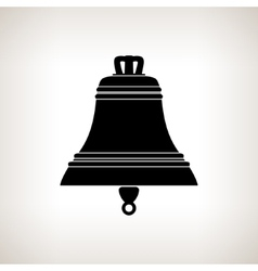 Silhouette bell on a light background vector image