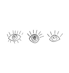 sketch human eyes vector image