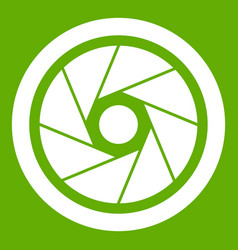 Small objective icon green vector