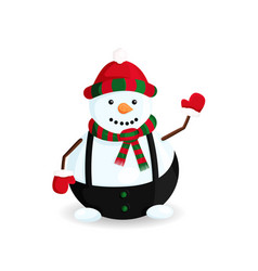 snowman hello winter vector image