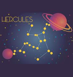 The constellation hercules vector