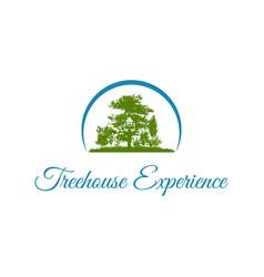 tree house recreational logo design vector image