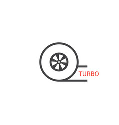 Turbo icon vector