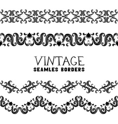 Vintage semless borders vector