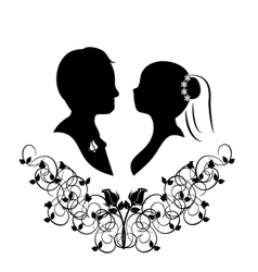 Wedding silhouette 4 vector