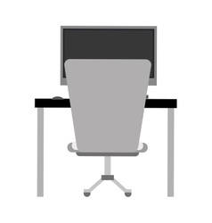 Workplace office space equipment design vector
