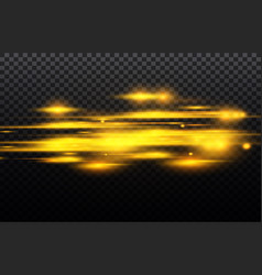 Yellow and blue special effect luminous vector