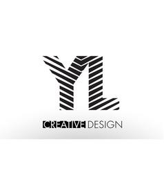 yl y l lines letter design with creative elegant vector image