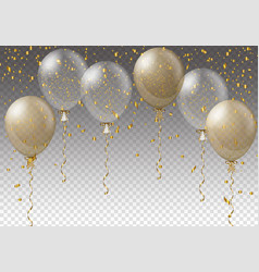 celebration background template with balloons vector image vector image