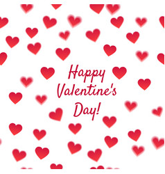 happy valentines day and hearts vector image vector image