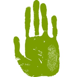 Man right hand print vector image