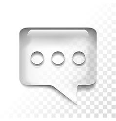 transparent message vector image