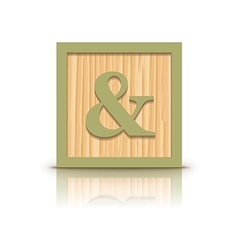 And sign wooden alphabet block vector
