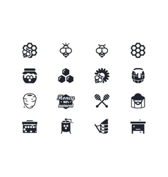 Beekeeping icons Lyra series vector image