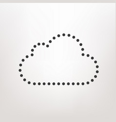cloud icon dots design style vector image vector image