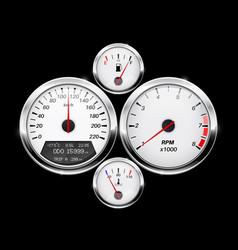 Speedometer tachometer fuel and temperature gage vector
