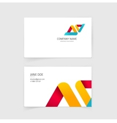 Business visiting card layout design with vector